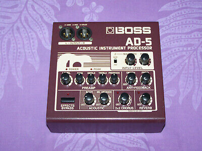BOSS AD-5 - Acoustic Processor - Made In Japan - With Box & Manual - EX+   NICE
