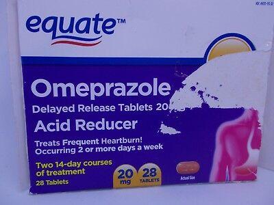 equate omeprazole acid reducer 28 tablets delayed release 20mg exp 8/20 blister  (Acid Reducer Delayed Release Tablets)