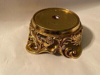Vintage brass base for lamp marked L & L acorns design Acorn Lamp Base