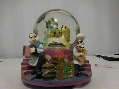 Disney's Lady and the Tramp Musical Snow Globe With Lights - 'Bella Notte' Works