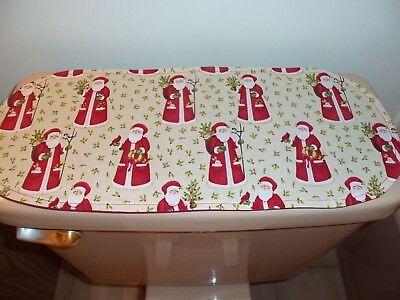 New Christmas Santas Small Table Runner-Toilet Tank Topper-Shelf-Dresser Scarf for sale  Hoffman Estates