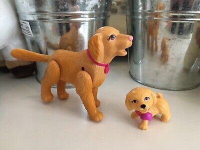 BARBIE Mom And Baby Swimming Dog Puppy Set Of 2 With Moving Legs