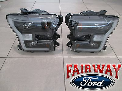 15 thru 17 F-150 OEM Genuine Ford Black Special Edition Headlamps LED Projector