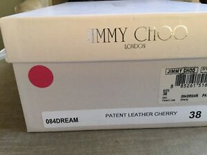 Jimmy Choo open toe shoes size 38 8 Red patent leather