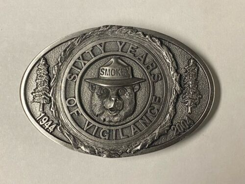 2004 Smokey Bear 60th Anniversary Collectible Belt Buckle Limited Edition SB-60