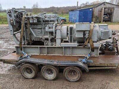 Generator Powered By Running Rolls Royce Sf65 Engine