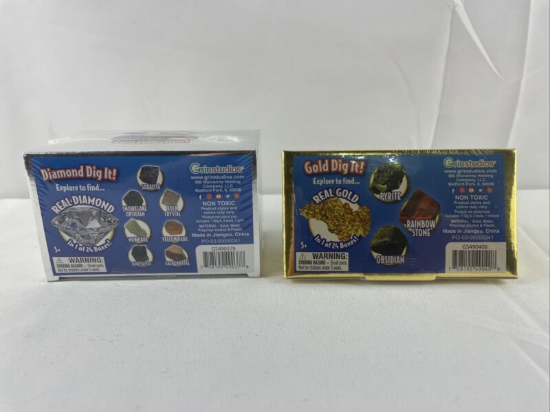 Diamond Dig It And Gold Dig It Lot Blind Mystery Boxes - Brand New, Sealed