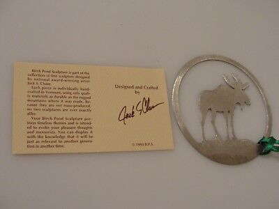 Birch Pond (Birch Pond sculpture steer or elk Christmas ornament stainless steel used cond. )