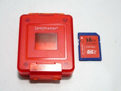 Ex++ Promaster Weatherproof Universal Memory Card Case & 16 GB Promaster SD Card
