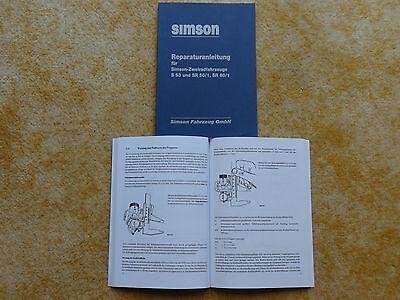 Reparaturanleitung Simson S53 SR50/1 SR80/1 Anleitung Handbuch NEU