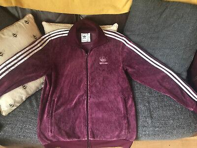 Adidas Originals Beckenbauer Velour Superstar Adicolor Track Jacket Maroon M