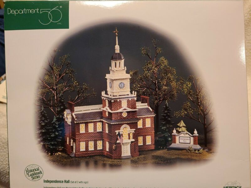 Dept 56 Independence Hall Historical Landmark Series Heritage Village Collection
