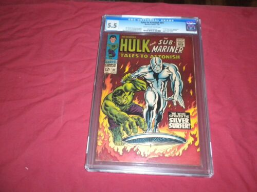Tales To Astonish #93 marvel 1967 silver age CGC 5.5 comic! HULK! SILVER SURFER!