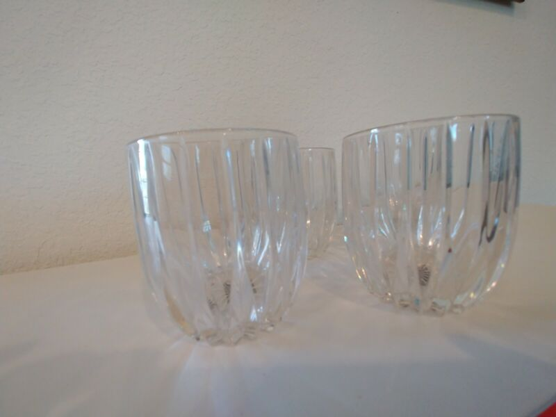 Mikasa Park Lane Crystal Double Old Fashioned Glass. Retired.  Set of 4. New.