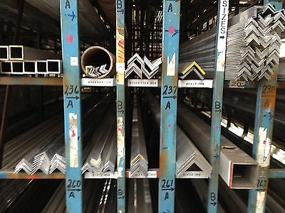 Alloy 6063 Aluminum Angle - 2 X 2 X .250 X 60