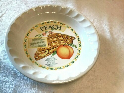 The golden pie collection Peach pie plate with recipe from Himark Korea.