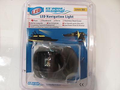 AQUA SIGNAL 33302-7 LED PORT SIDE BULKHEAD MOUNT  NAVIGATION LIGHT