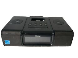 iHome iP9 Black Apple iPhone iPod 30 Pin Speaker Dock Alarm Clock Radio