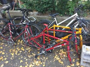 7 Bikes - Road and mountain for parts or repair