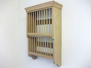 Pine wall 20 plate rack unit made by our own carpenters