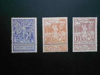 71-73 xx MNH Wereldtentoonstelling - Exposition Internationale  Bruxelles
