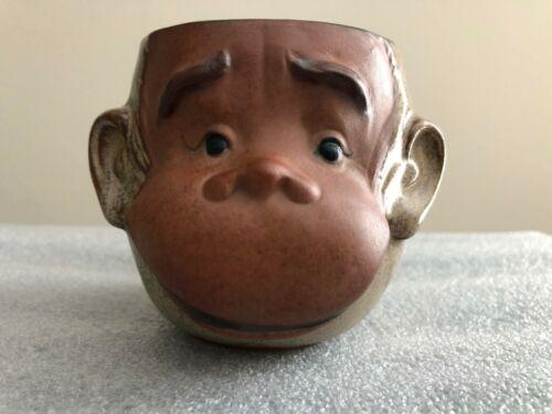 Ceramic Monkey Chimpanzee Ape Mug UCTCI Japan Tiki