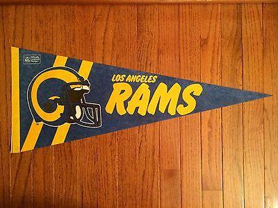 "1990s NFL Vintage ""LOS ANGELES RAMS"" (Full Size) Football PENNANT, RARE!"