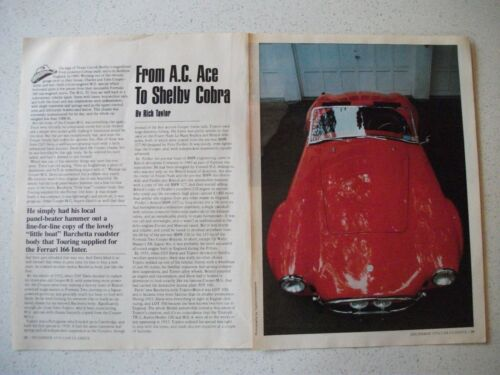 THE STORY OF THE AC COBRA WITH FEATURED 427 MODEL US MAGAZINE 12 PAGE ARTICLE