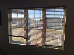 3 X 26 3/4 by 54 High Brown Blinds