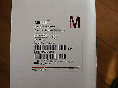 Millipore Millicell Picm0rg50 Cell Culture Insert 30 Mm Hydrophilic 4 M Box50