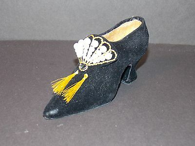 Fete Miniature Shoe - FETE  Pearls & Posh Miniature Shoe  In Original Box