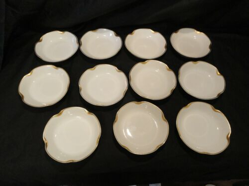 "Set of 11  Limoges Haviland Silver Anniversary Berry Bowls 5"" Diameter"