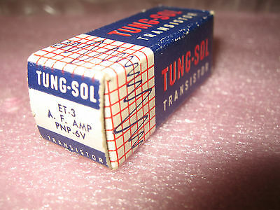 Vintage Tung Sol Et-3 Germanium Pnp Transistor Nos Nib