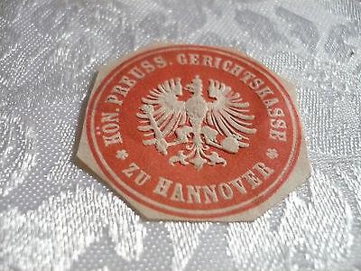 Siegelmarke - Kön. Preuss. Gerichtskasse zu Hannover