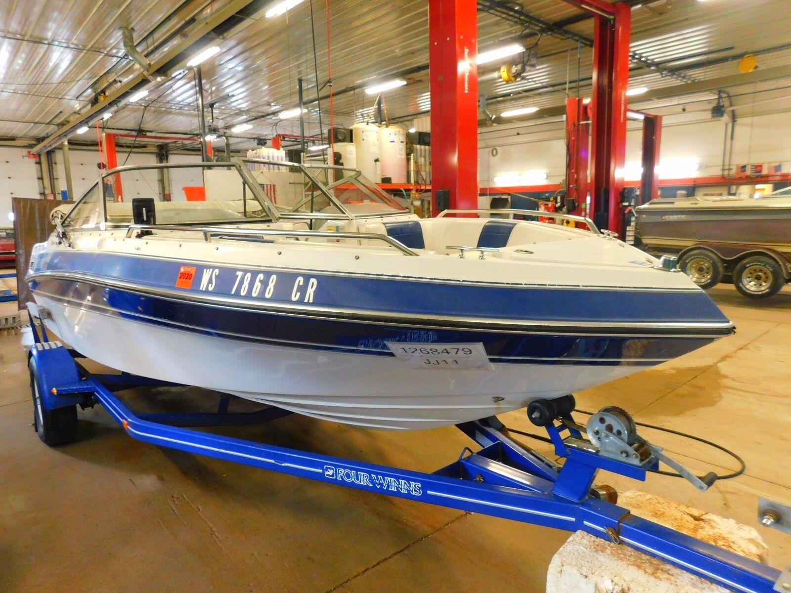 19' Four Winns 175HP OMC In/Outboard Four Winns Trailer T1268479