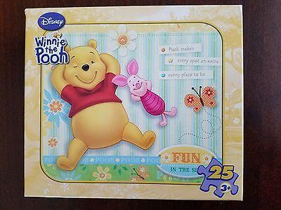 Disney Winnie the Pooh 25 Piece Jigsaw Puzzle ft. Piglet & Pooh