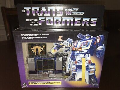 NEW Transformers Decepticon Soundwave w/ Buzzsaw G1 ReIssue Hasbro SEALED