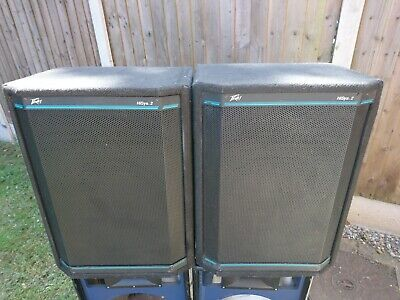 "Pair Peavey 15"" PA Speakers compression horn tweeters Band Disco Club DJ PA"