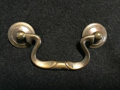 Vintage '50's Cast Brass Drop//Bail Drawer Pull Handle