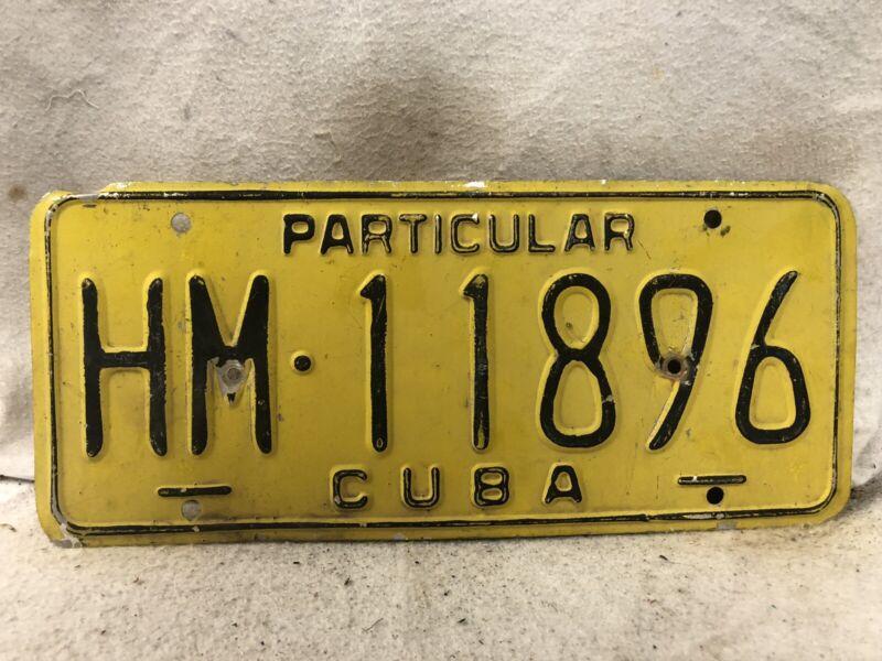Cuba License Plate