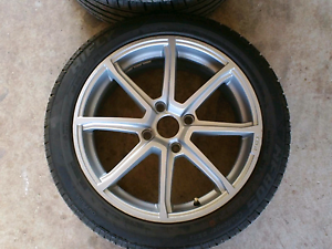 17 inch 4x114.3 rims for sale with new  17/45/215 HiFly tyres Wallan Mitchell Area Preview