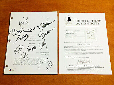 LOST SIGNED PILOT SCRIPT BY MAIN CAST MEMBERS [x11] MATTHEW FOX w/ BECKETT COA