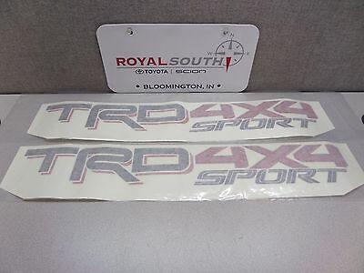 Toyota Tacoma TRD Sport 4x4 Decal Emblem Sticker Set Dark Script Genuine OE OEM