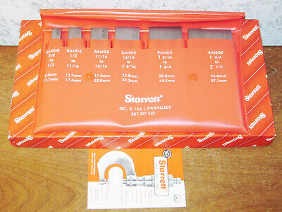 6 Pc Starrett Adjustable Parallel Set No S154l