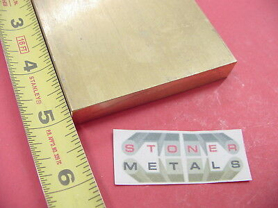 12 X 3 C360 Brass Flat Bar 5 Long Solid Plate Mill Stock H02 .50 X 3.0x 5