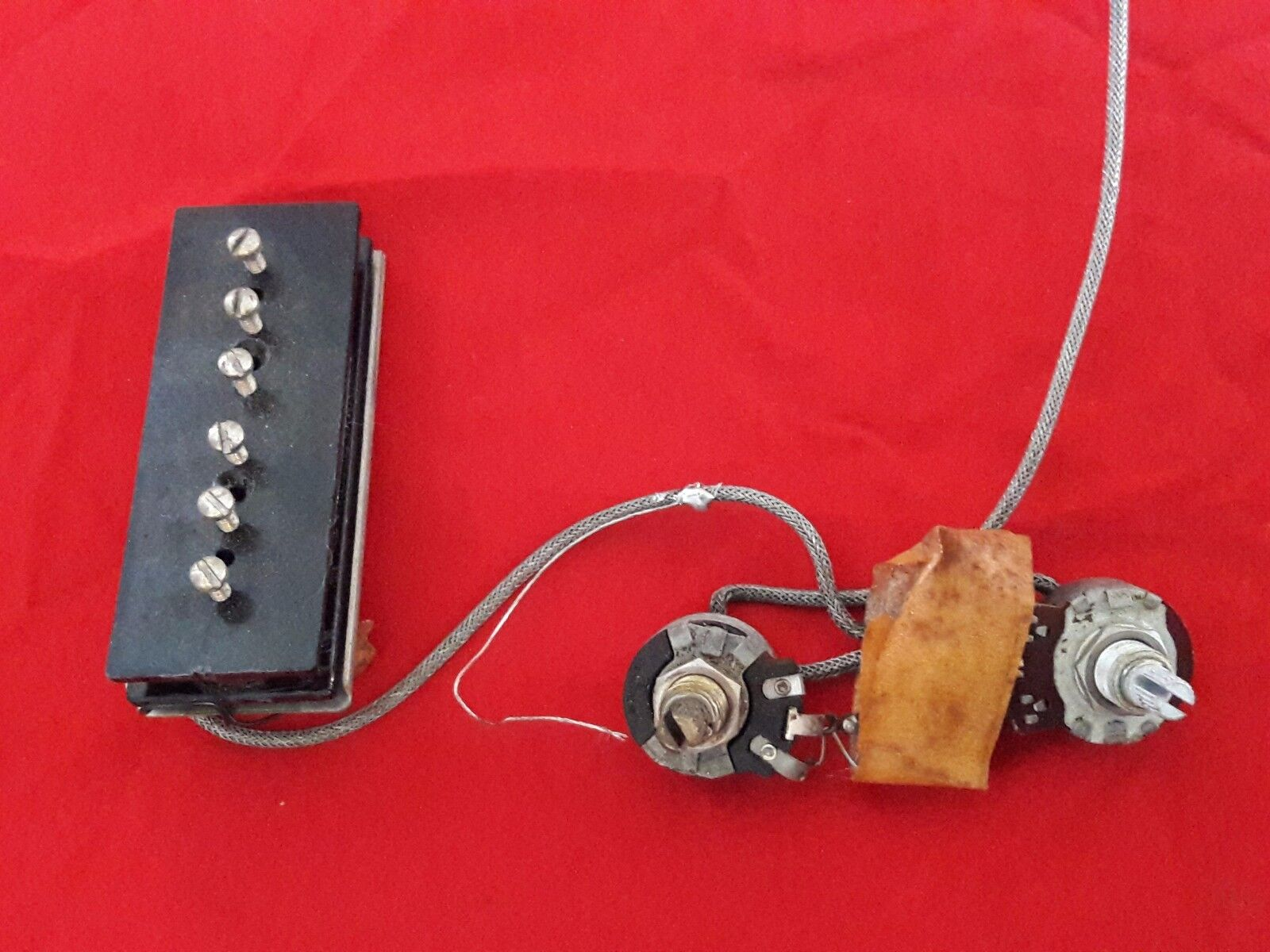 Vintage 1954 Usa Gibson Lap Steel Guitar Pickup W Wiring Harness Irc Pots