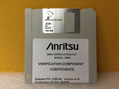 Anritsu / Wiltron 2360-66 Ver: 4.10, Verification Components Coefficients Disk