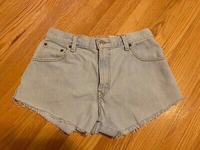 LEVI'S classic denim cutoff shorts; Misses size 6; high rise; lt blue - Levi Classic Shorts
