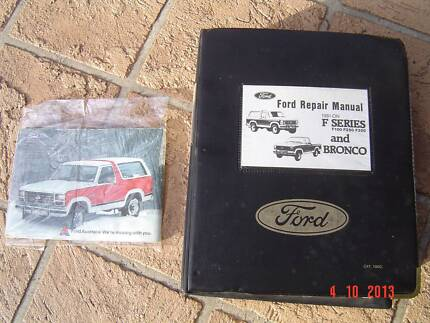 F100 F250 F350 GENUINE 1981 ON WORKSHOP MANUALS & OWNERS MANUALS