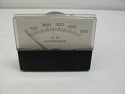 New Hoyt Electric D-1279756372 3126 Ac Amperes Meter 0-500 5 Amp